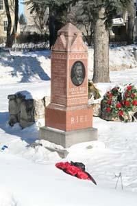 Louis Riel's gravesite at St. Boniface Cemetery