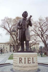 Louis Riel statue on the Legislative Building Grounds