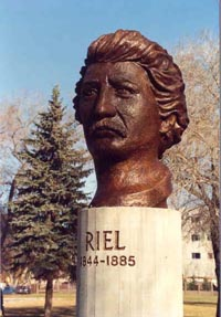 Louis Riel bust at St. Boniface Museum